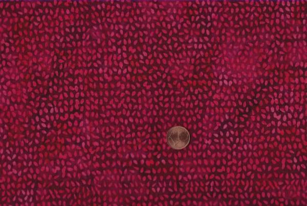 Batik Tropfen rot