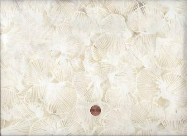 Batik cream-beige Muscheln