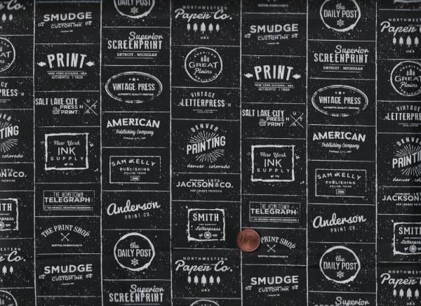 Sweet Water Print Shop Labels black