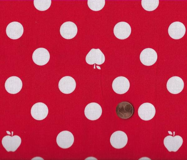 Apple Dot rot-weiß