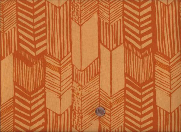 Hand Dyed Batik Chevron orange