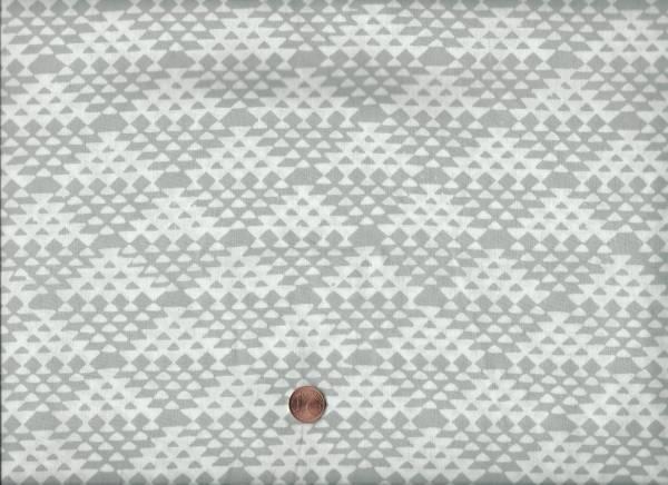 Batik Dreiecke h.grau-grau