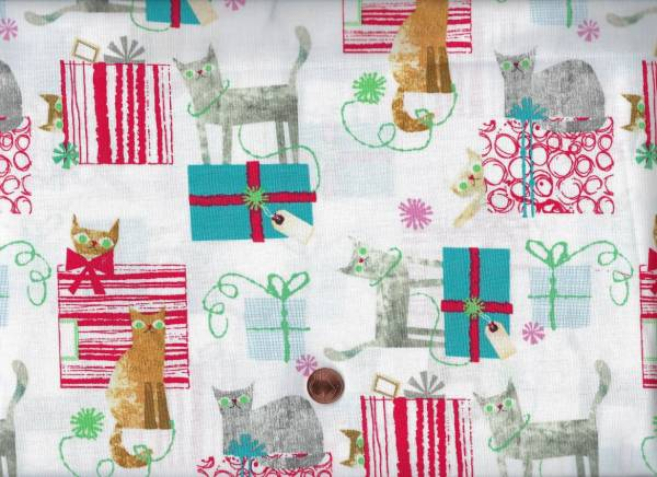 M. Carluccio Make merry Gift wrapped cat