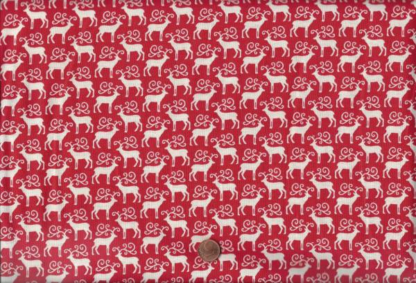 x-mas Reindeer rot-weiß