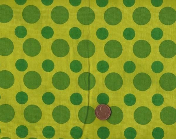 Batikdruck Dots grün