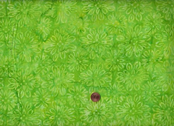 Batik Floral grün