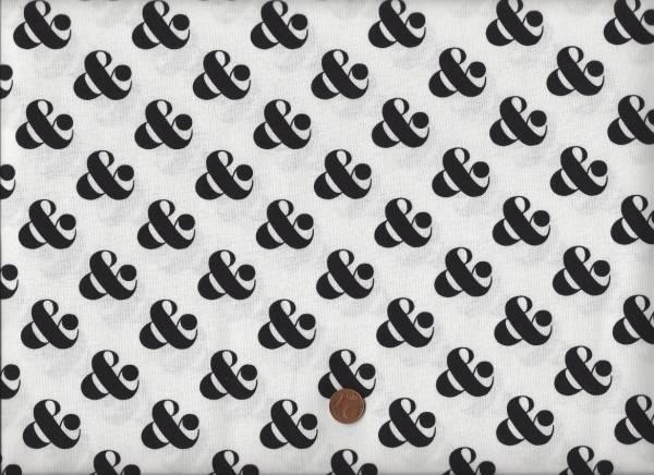 Ampersand & weiß-schwarz klein