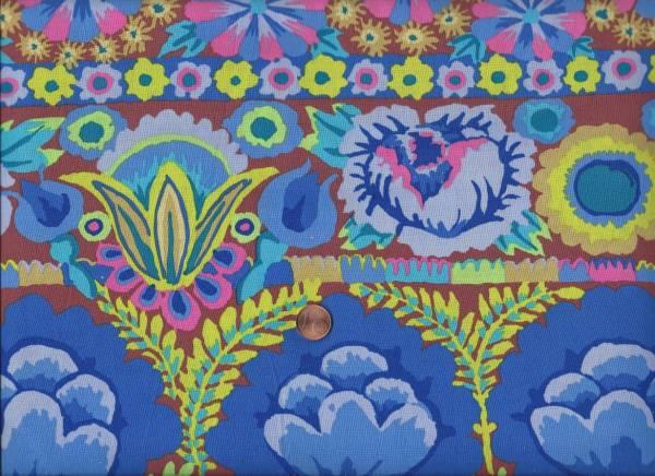 Kaffe Fassett Emboid Flower Border blue