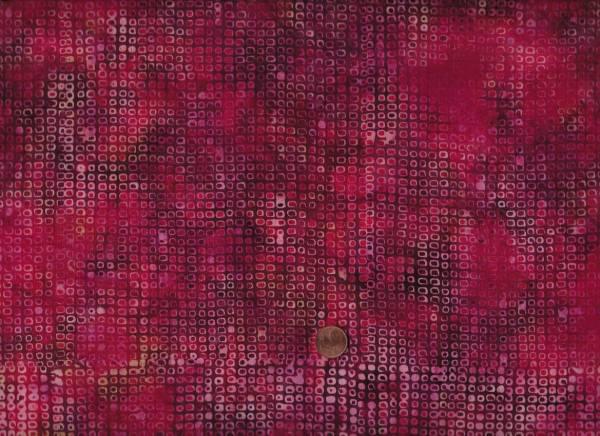 Batik kl. Quadrate rot