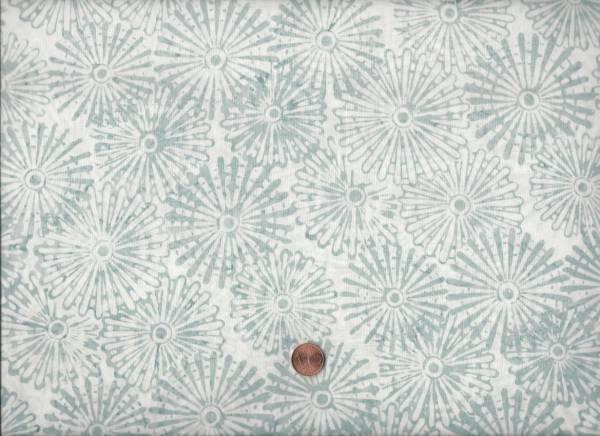 Batik Mandala weiß-grau