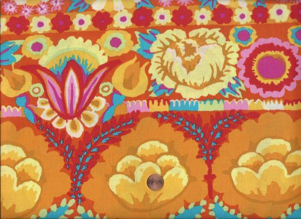 Kaffe Fassett Emboid Flower Border yellow