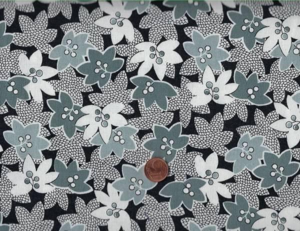 Mimosa Blumen schwarz-grau-weiß