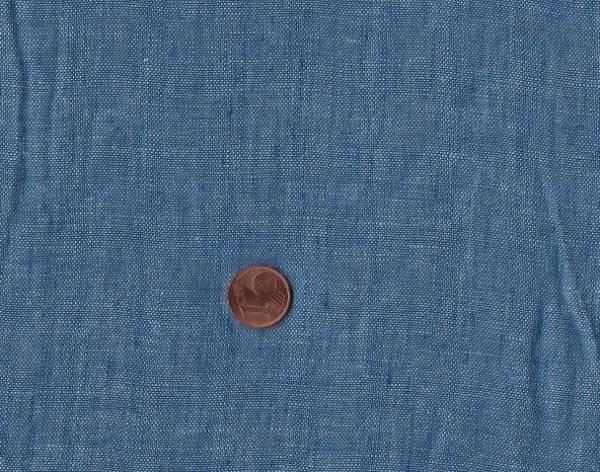 Leinen 100% jeansblau