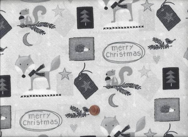 Christmas for Friends grau Allover