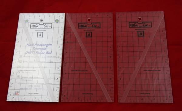 Bloc-Loc Ruler Half Rectangle Triangle Set