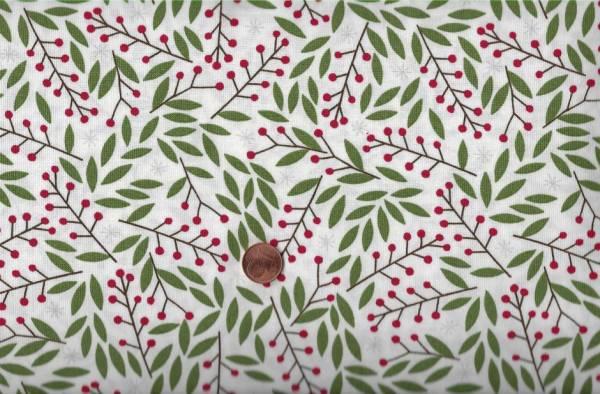 Merriment Gingiber Holly Berries White