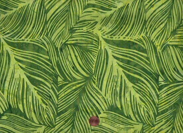 Batik Blätter maigrün