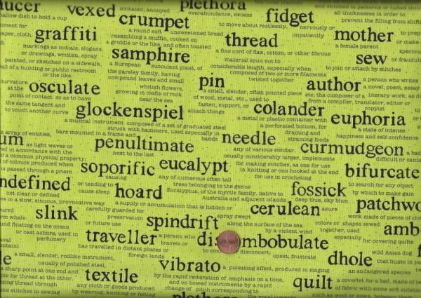 Sarah Fielke Wordplay gr. Schrift grün-schwarz