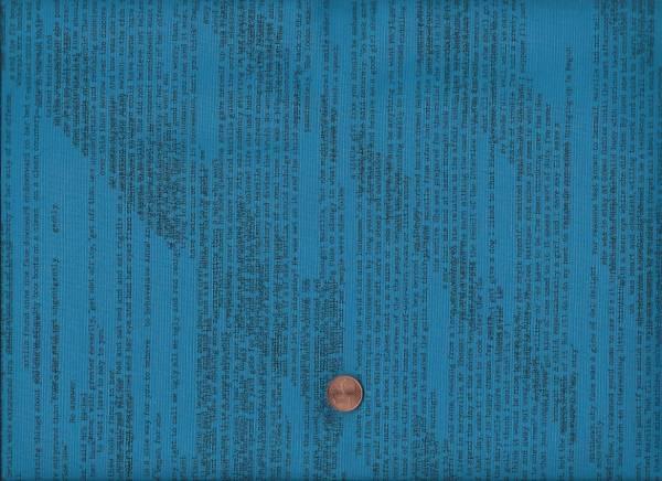 Heather Givans Literary Zeitungsdruck türkis-schwarz