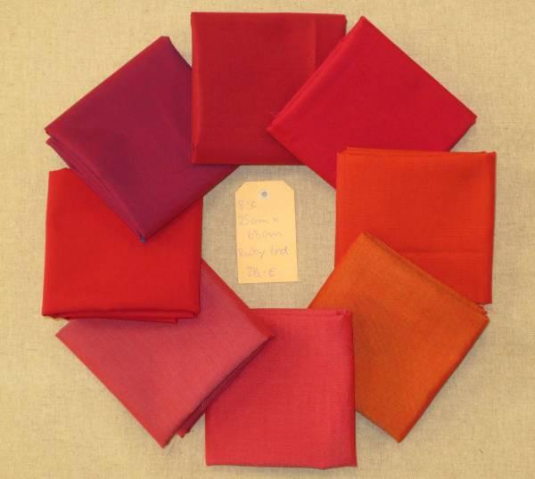 Stoffpäckchen Ruby Red 8 Farben