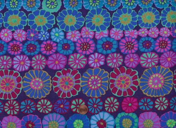 Kaffe Fassett Row Flowers gp169 blue