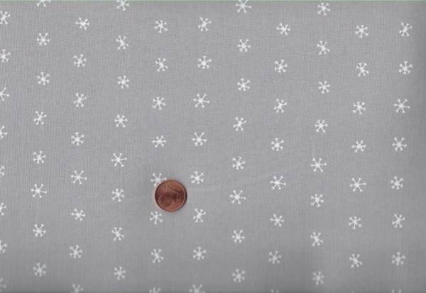 Merriment Gingiber Snowflakes Grey