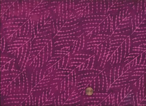 Batik Zweige lila-pink