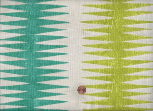 Carrie Bloomston Dreamer Chevron grün