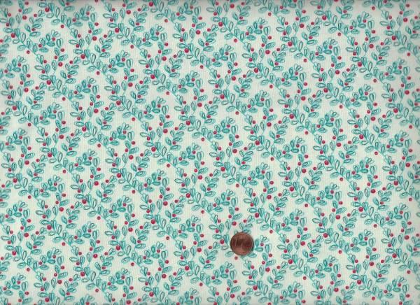 S.Gervais oh what fun x-mas mistletoe turquoise