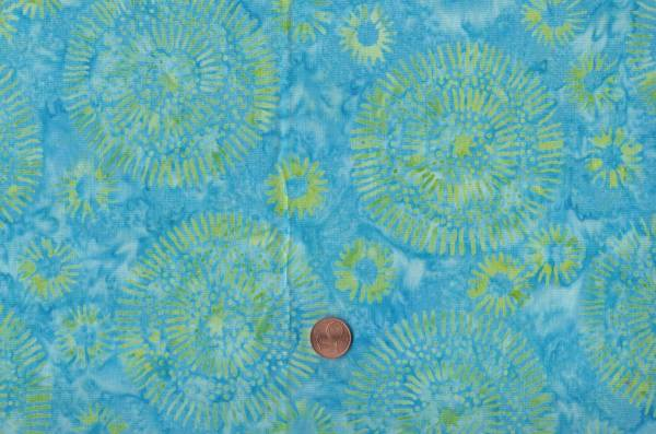 Batik Mandala türkis-grün