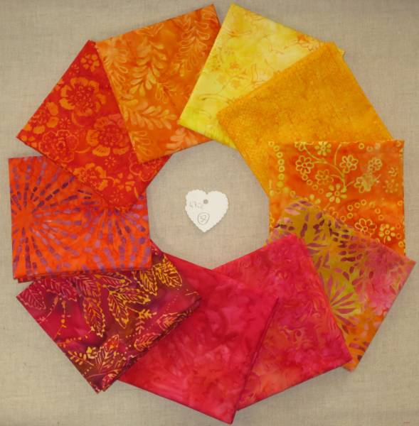 Stoffpaket Batik 32