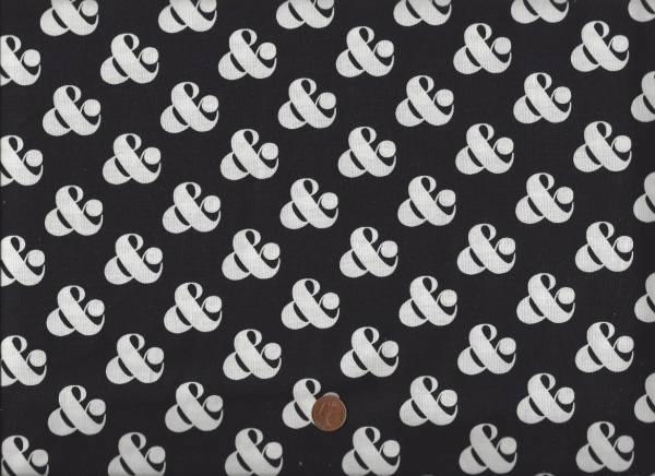 Ampersand & schwarz-weiß klein