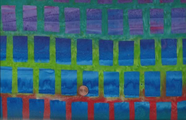 Batik Farbverlauf Quadrate bunt
