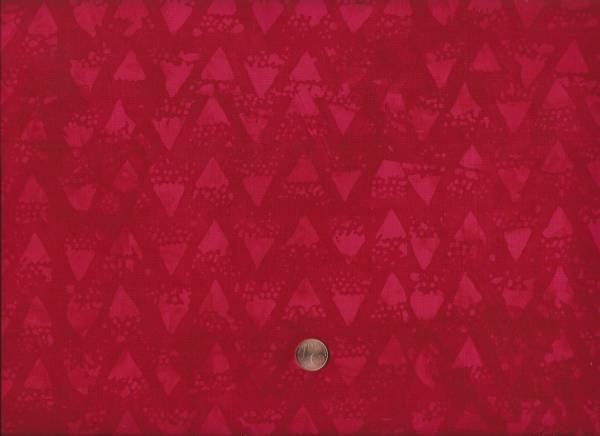 Batik Dreiecke rot