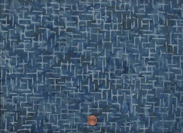 Batik blau-grau Striche