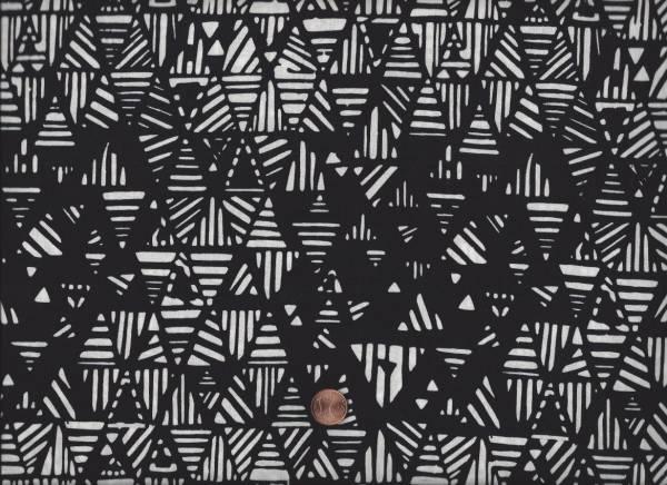 Batik Dreiecke ethno schwarz-weiß