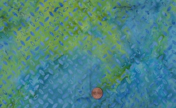 Batik Elypsen türkis-grün
