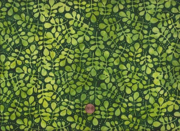 Batik kl. Blätter grün