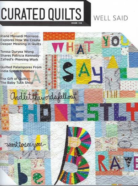 Curated Quilts WELL SAID issue 08