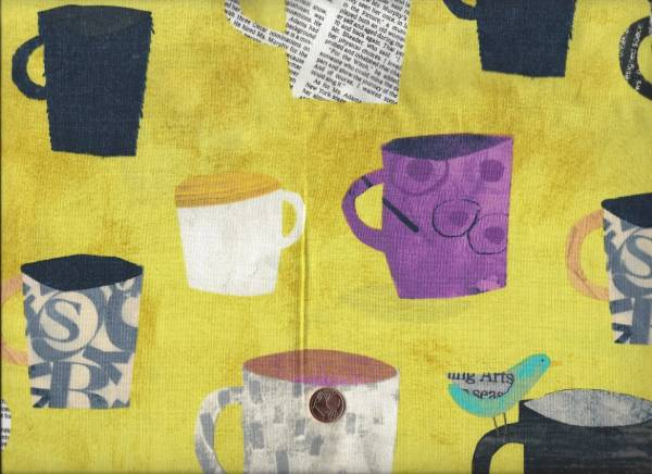 Collage Painted Cups gelb-bunt