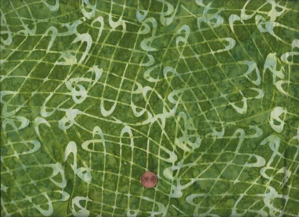Batik Kringel grün