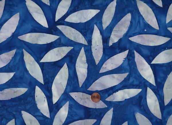 Kaffe Fassett Artisan Batik Tumbling Leafs kf07 indigo