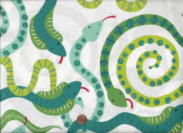 A. Henry Zoo Schlangen weiß-grün