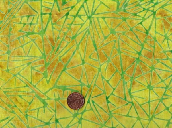 Batik Striche ocker-gelb-grün
