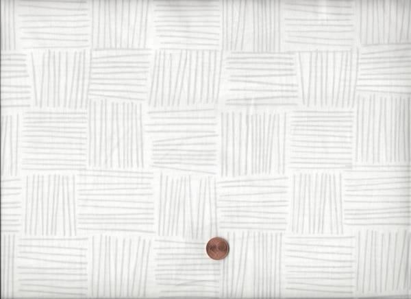 Batik weiß-grau Striche