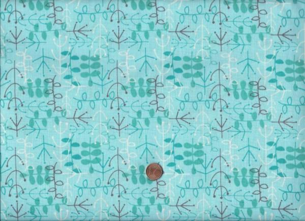 Sea Life Zweige türkis-grau
