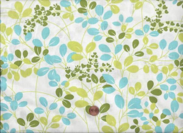 Simply Color weiß-grü-türkis Zweige