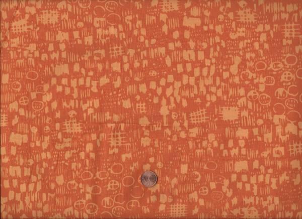 me & you Batik Kreise/Quadrate orange
