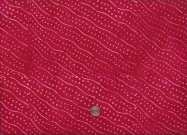 Mirah Batik Maranca red Punkte Wellen