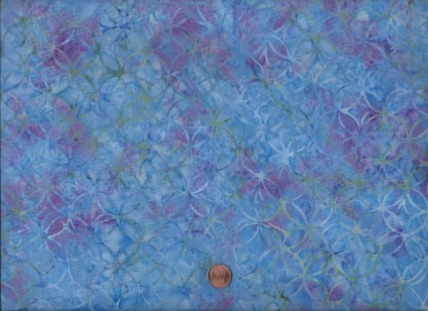 Batik Meander türkis-lila
